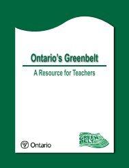 Ontario's Greenbelt - Curriculum Services Canada