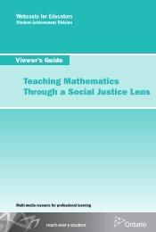 Teaching Mathematics Through a Social Justice Lens Viewer's Guide