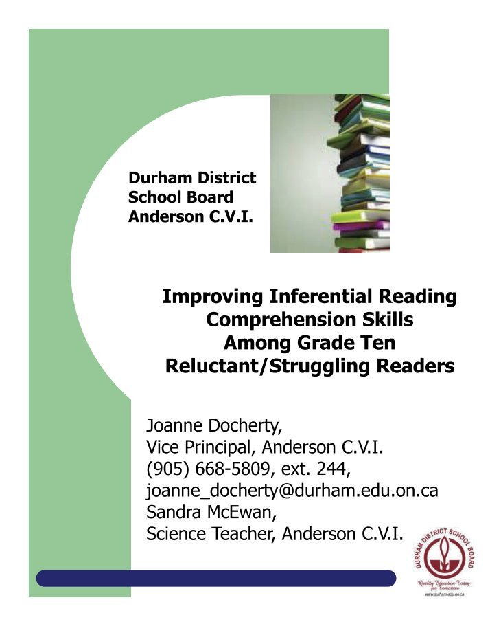how to improve reading deficency among Children of parents with low literacy skills have a 72 percent chance of being at the lowest reading levels themselves 1 these children are more likely to get poor grades, display behavioral problems, have high absentee rates, repeat school years, or drop out.