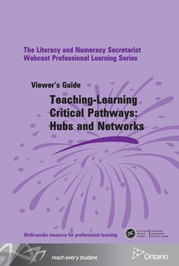 Hubs and Networks Teaching-Learning Critical Pathways Viewer's ...