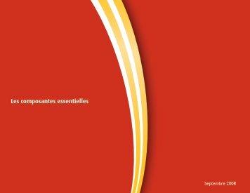 Les composantes essentielles - Curriculum Services Canada