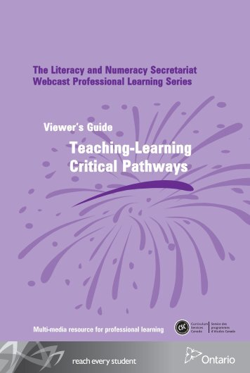Teaching-Learning Critical Pathways