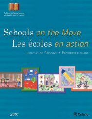 Schools on the Move - Curriculum Services Canada