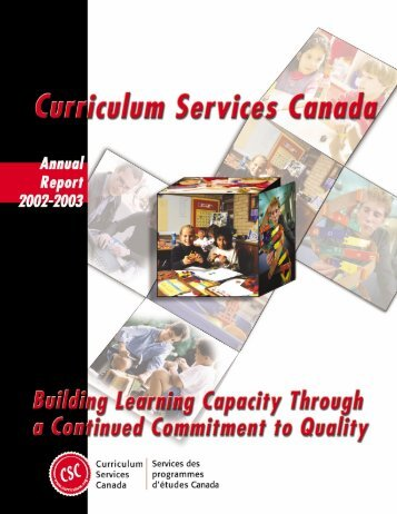 Building Learning Capacity... - Curriculum Services Canada