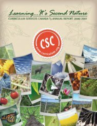 Learning...It's Second Nature - Curriculum Services Canada