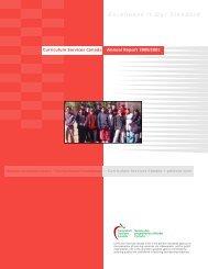 CSC Annual Report 2000-2001 - Curriculum Services Canada