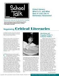 Critical Literacy - Curriculum Services Canada