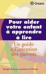Guide à l'intention des parents