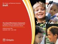 School Effectiveness Framework 2008 - Curriculum Services Canada