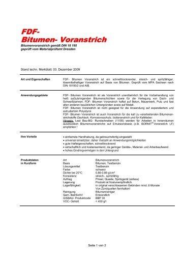 Interessant Bitumen-Voranstrich NI57