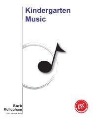 Kindergarten Music - Guide - Curriculum Services Canada