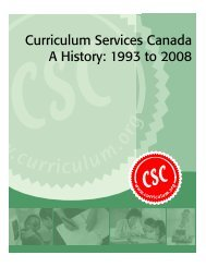 a history of curriculum services canada