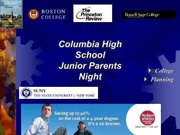 Columbia High School Junior Parents Night
