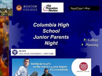 Columbia High School Junior Parents Night