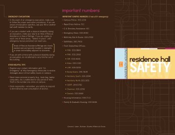 Residence Hall Safety Brochure