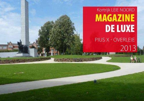 Magazine De Luxe 2013: Pius X - Overleie - Stad Kortrijk