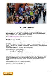 M(a)y Fair Trade 2013 - Stad Kortrijk