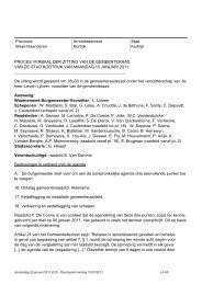Zitting van GR van 10 januari 2011 - Stad Kortrijk