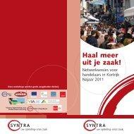 Folder Haal meer uit je zaak - najaar 2011 - Stad Kortrijk