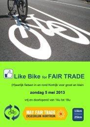 Brochure Like bike - Stad Kortrijk