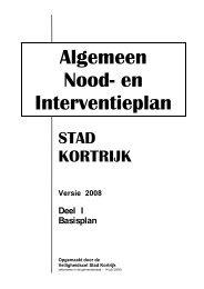 Noodplan deel 1 - Stad Kortrijk