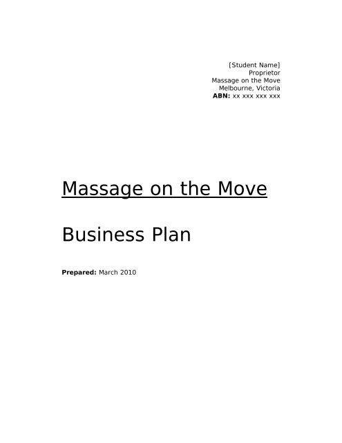 professional business plan sample