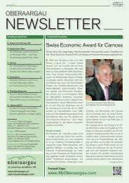 Newsletter Region Oberaargau 06/2013