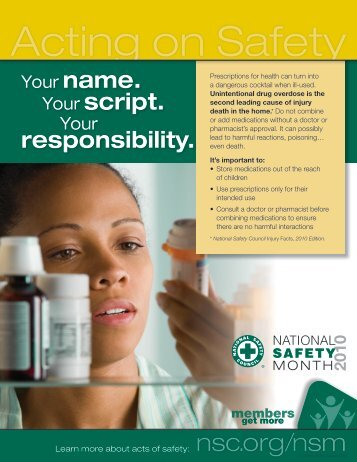 Your script. responsibility. - National Safety Council