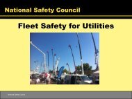 Fleet Safety for Utilities - National Safety Council