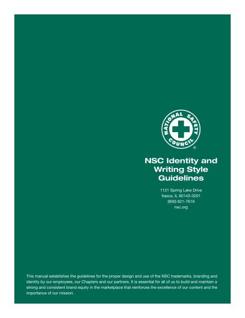 NSC_Identity_Writing_style-guide - National Safety Council