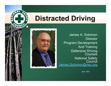 Distracted Driving presentation - National Safety Council