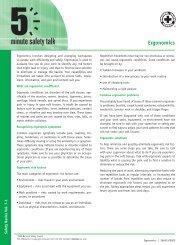 Ergonomics - National Safety Council