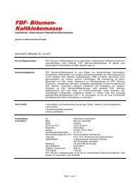 FDF- Bitumen- Kaltklebemasse - FDF – Für Dach und Fassade