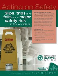 Slips, trips and falls are a major safety risk - National Safety Council
