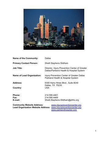 Injury Prevention Center of Greater Dallas - National Safety Council