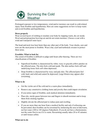 Surviving the Cold Weather - National Safety Council
