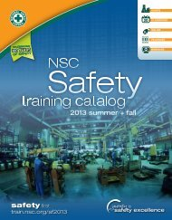 2013 summer + fall - National Safety Council