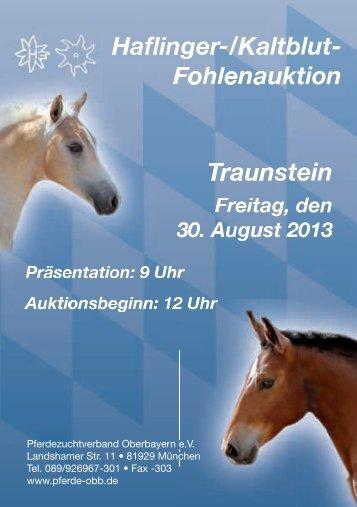 Traunstein Haflinger-/Kaltblut - Pferdezuchtverband Oberbayern eV