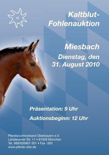 Kaltblut - Pferdezuchtverband Oberbayern eV