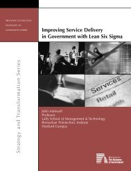 Improving Service Delivery in Government with Lean Six Sigma ...