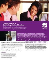 Certified Manager of Quality/Organizational Excellence
