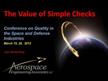 The Value of Simple Checks
