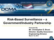 Risk-Based Surveillance – a Government/Industry Partnership