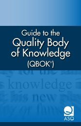 Guide to the Quality Body of Knowledge - American Society for Quality