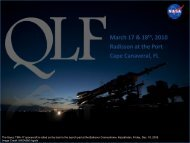 NASA Quality Leadership Forum Radisson at the Port | March 17 ...