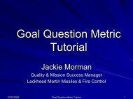 Goal, Question, Metric Tutorial - ASQ Groups