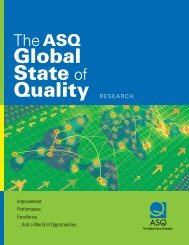Global State of Quality