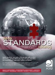2010 standards - American Society for Quality