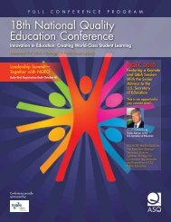18th National Quality Education Conference - de Bono for Schools