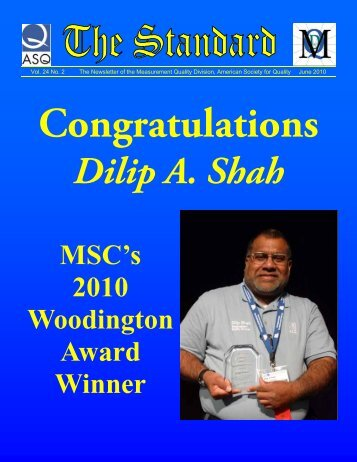 Dilip A. Shah - American Society for Quality